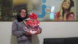 Márcia Braulino – Distrito de Nova Esperança Município De Jateí-MS, ganhadora da cesta de chocolate do Programa Boteco da Jota