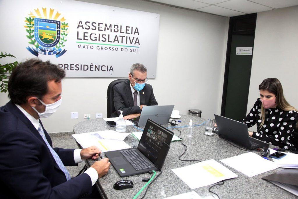 Presidente da Assembleia, Paulo Corrêa, conduziu a votação virtual